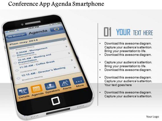 Stock Photo Conference App Agenda Smartphone PowerPoint Slide