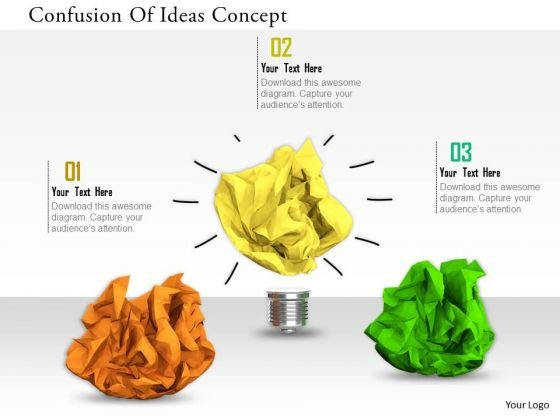 Stock Photo Confusion Of Ideas Concept PowerPoint Slide