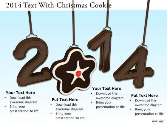 Stock Photo Cookie In Hanging 2014 Year Graphic PowerPoint Slide