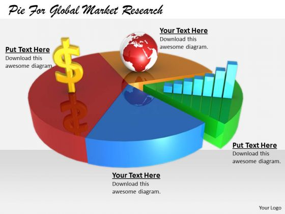 Stock Photo Corporate Business Strategy Pie For Global Market Research Best