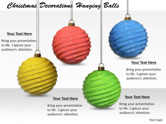 Stock Photo Creative Marketing Concepts Christmas Decorations Hanging Balls Business Images