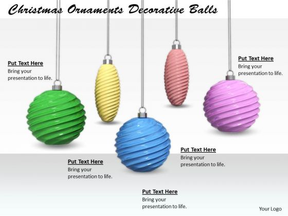 Stock Photo Creative Marketing Concepts Christmas Ornaments Decorative Balls Business Images