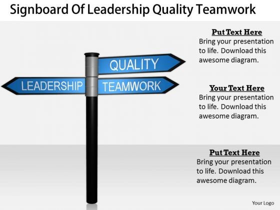 Stock Photo Creative Marketing Concepts Signboard Of Leadership Quality Teamwork Best Stock Photos