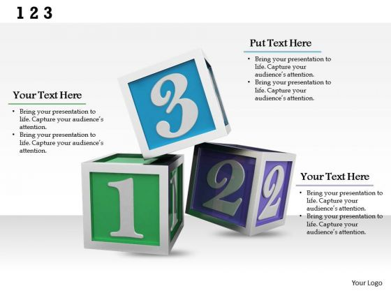 Stock Photo Cubes With Numbers For Study PowerPoint Slide