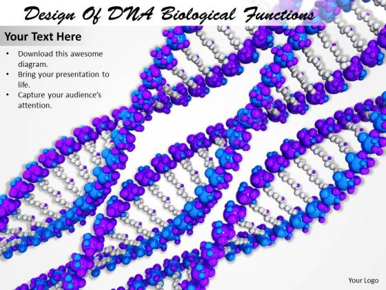 Stock Photo Design Of Dna Biological Functions Ppt Template