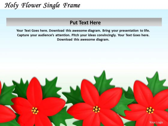 Stock Photo Design Of Red Flowers Frame PowerPoint Slide