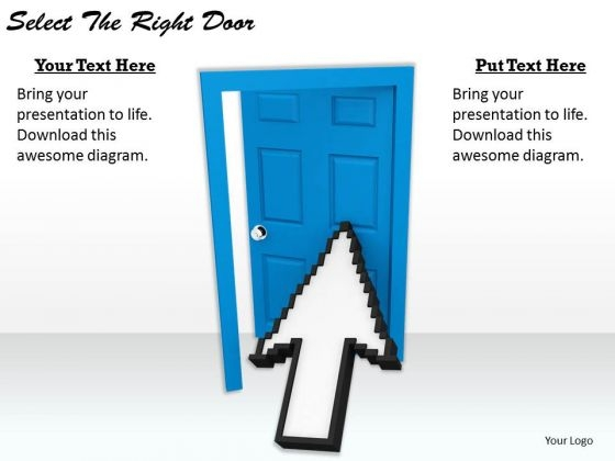 Stock Photo Develop Business Strategy Select The Right Door Clipart