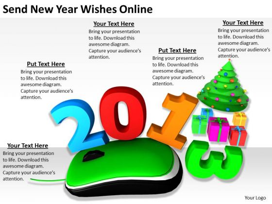 Stock Photo Develop Business Strategy Send New Year Wishes Online Clipart