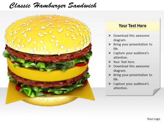 Stock Photo Developing Business Strategy Classic Hamburger Sandwich Clipart Images