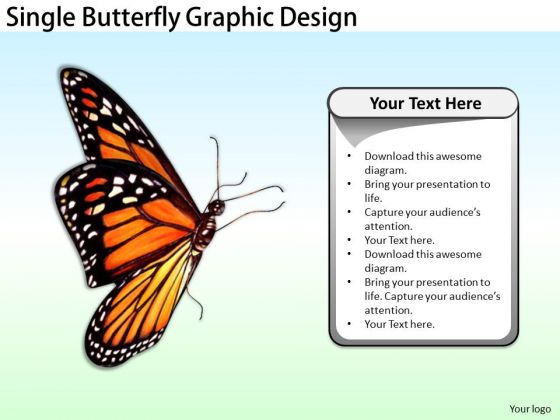Stock Photo Developing Business Strategy Single Butterfly Graphic Design Success Images