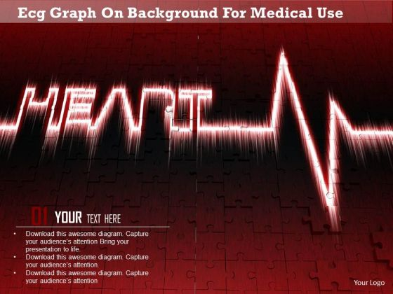 Stock Photo Ecg Graph On Background For-mdical Use Image Graphics For PowerPoint Slide