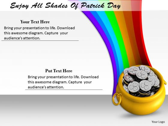 Stock Photo Enjoy All Shades Of Patrick Day PowerPoint Template
