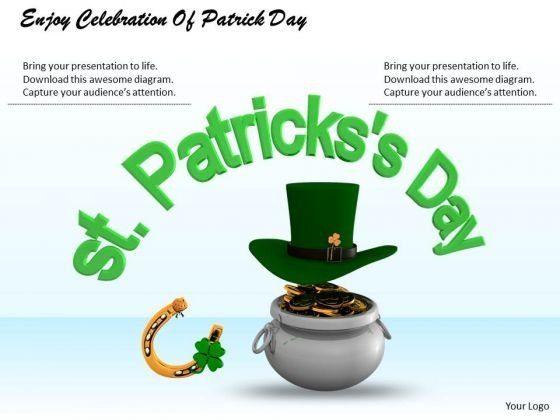Stock Photo Enjoy Celebration Of Patrick Day PowerPoint Template