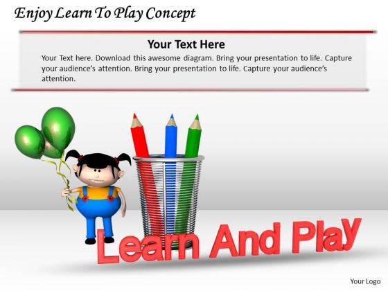 Stock Photo Enjoy Learn To Play Concept PowerPoint Template