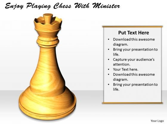 Stock Photo Enjoy Playing Chess With Minister PowerPoint Template
