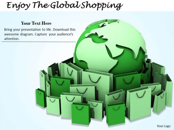Stock Photo Enjoy The Global Shopping PowerPoint Template