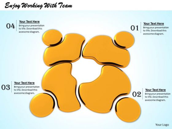 Stock Photo Enjoy Working With Team PowerPoint Template