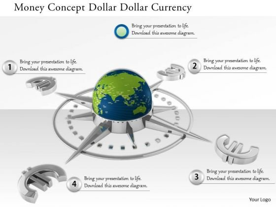 Stock Photo Euro Currency Symbol Around Globe PowerPoint Slide