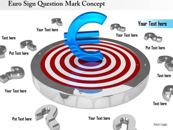 Stock Photo Euro Sign Question Mark PowerPoint Slide