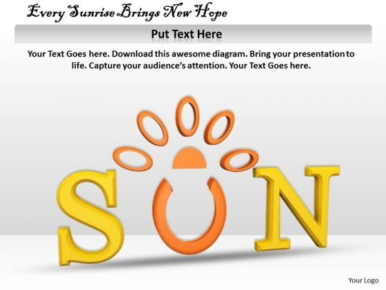 Stock Photo Every Sunrise Brings New Hope PowerPoint Template