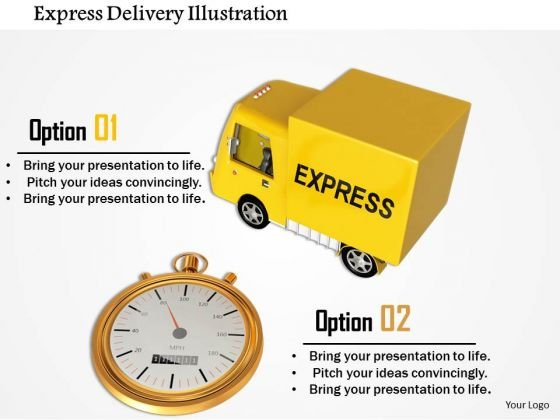 Stock Photo Express Delivery Illustration PowerPoint Slide
