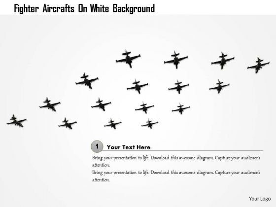 stock_photo_fighter_aircrafts_on_white_background_powerpoint_slide_1