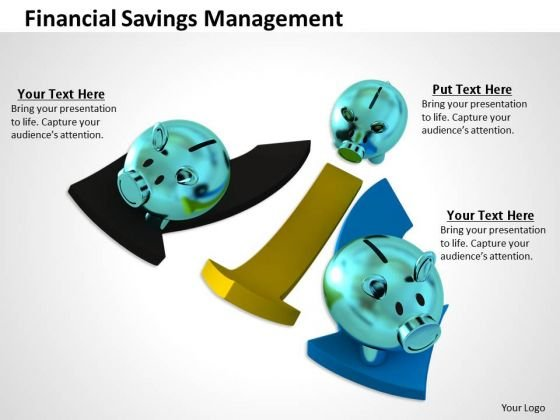 Stock Photo Financial Savings Management PowerPoint Template