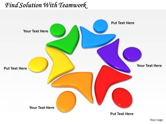 Stock Photo Find Solution With Teamwork PowerPoint Template