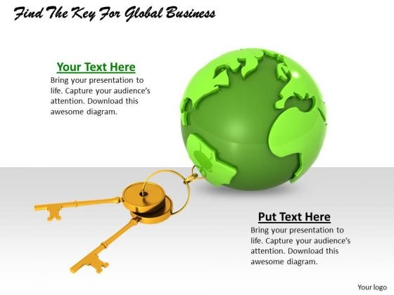 Stock Photo Find The Key For Global Business PowerPoint Template