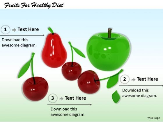 Stock Photo Fruits For Healthy Diet PowerPoint Template