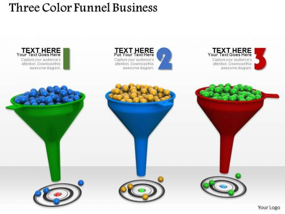 Stock Photo Funnel Graphics For Sales Target Pwerpoint Slide