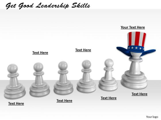 Stock Photo Get Good Leadership Skills PowerPoint Template