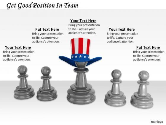 Stock Photo Get Good Position In Team PowerPoint Template