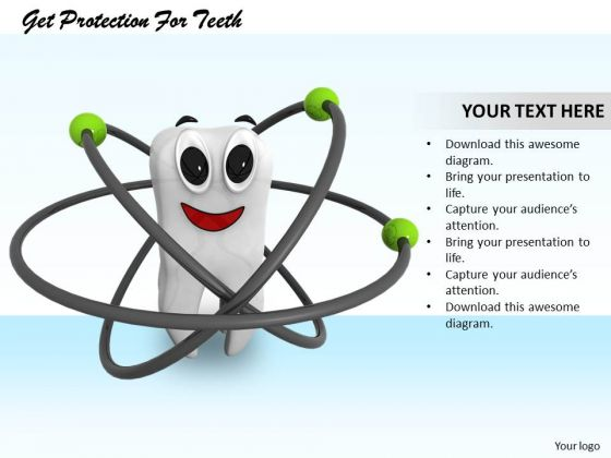 Stock Photo Get Protection For Teeth PowerPoint Template