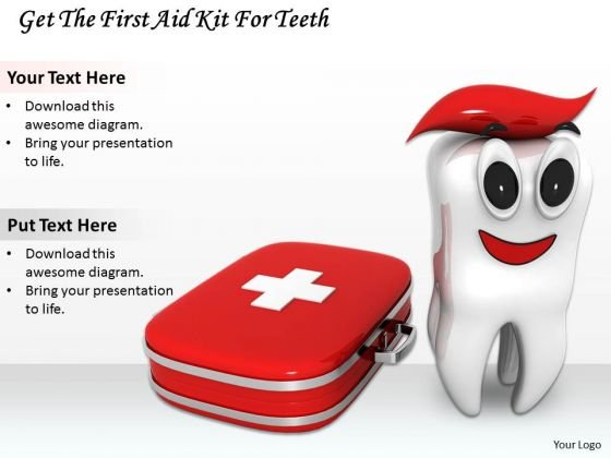 Stock Photo Get The First Aid Kit For Teeth PowerPoint Template
