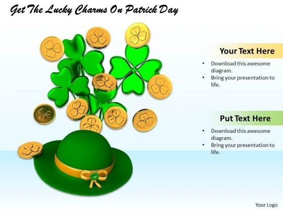 Stock Photo Get The Lucky Charms On Patrick Day PowerPoint Template