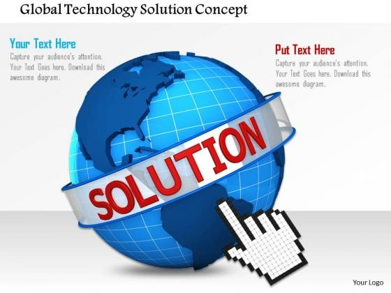 Stock Photo Global Technology Solution Concept PowerPoint Slide