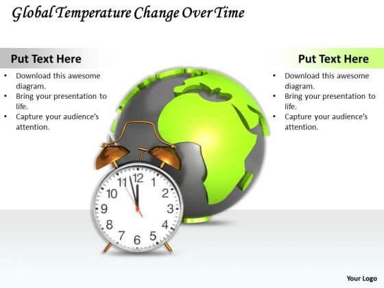 Stock Photo Global Temperature Change Over Time Ppt Template
