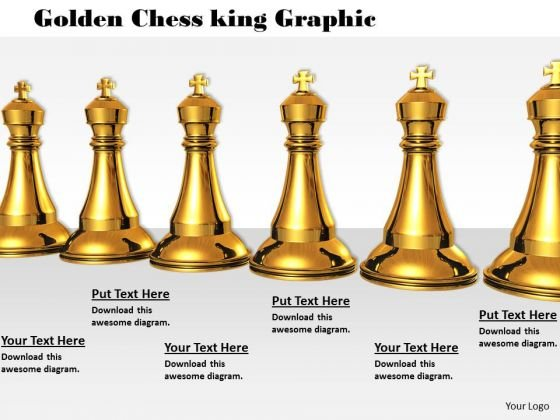 Stock Photo Golden Chess King Graphic PowerPoint Template