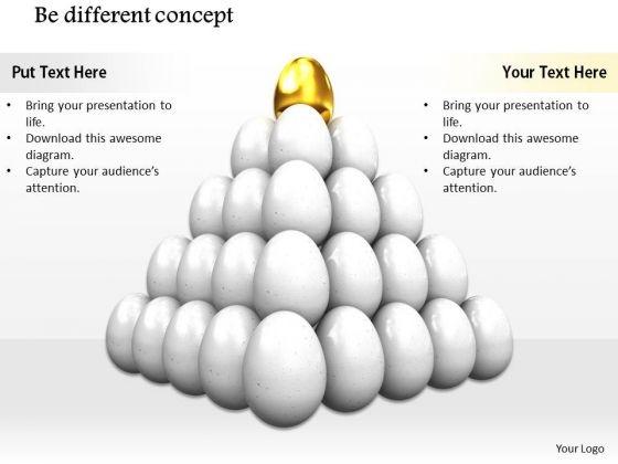 Stock Photo Golden Egg On White Eggs For Leadership PowerPoint Slide