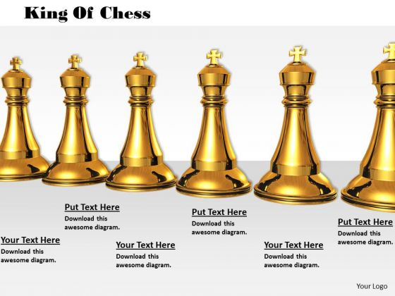 Stock Photo Golden Kings Of Chess Game PowerPoint Slide