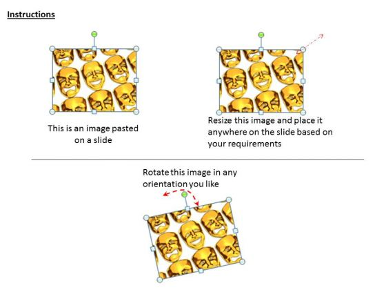stock_photo_golden_masks_with_different_expressions_powerpoint_slide_2