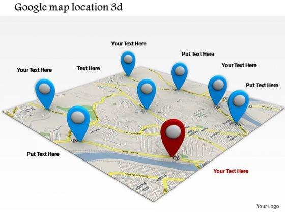 Stock Photo Google Maps Navigation Conceptual Image PowerPoint Slide