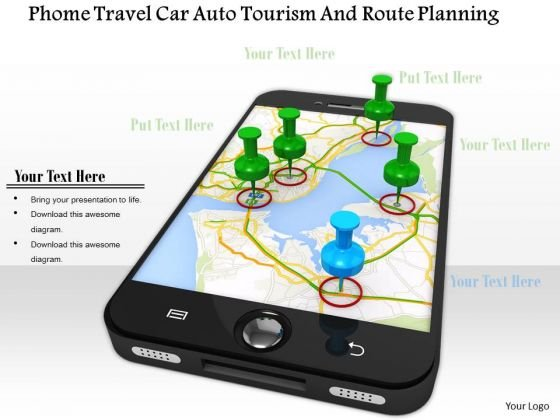 Stock Photo Gps Navigation On Mobile Phone PowerPoint Slide