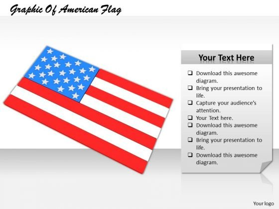 Stock Photo Graphic Of American Flag PowerPoint Template
