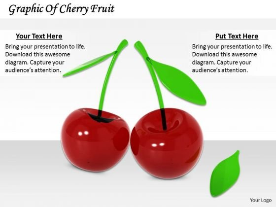 Stock Photo Graphic Of Cherry Fruit PowerPoint Template