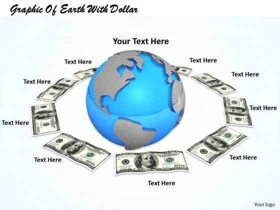 Stock Photo Graphic Of Earth With Dollar PowerPoint Template