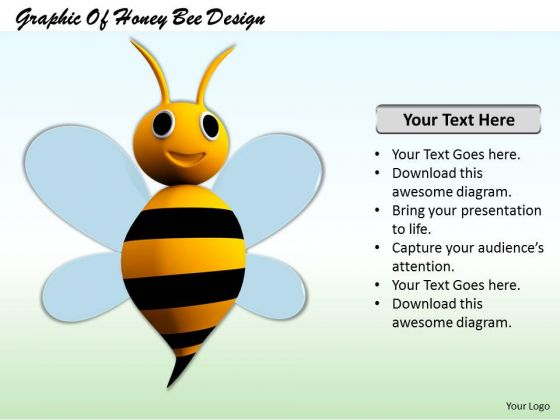 Stock Photo Graphic Of Honey Bee Design Powerpoint Template