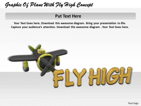 Stock Photo Graphic Of Plane With Fly High Concept PowerPoint Template