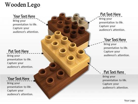 Stock Photo Graphics Of Brown Lego Blocks PowerPoint Slide